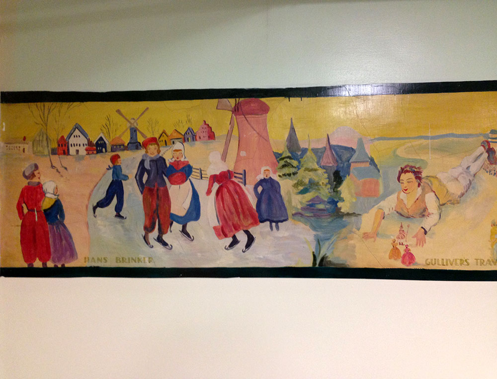 South side branch history bethlehem area public library for Classic mural painting