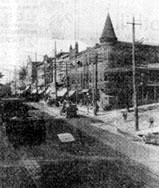 1920 photo of Main Street looking north from Market Street.